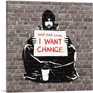 ARTCANVAS-Keep-Your-Coins-I-Want-Change-Meek-Canvas-Art-Print-Banksy