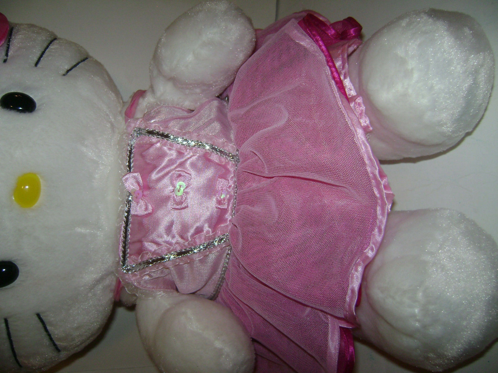 BUILD BUILD BUILD A BEAR bianca HELLO KITTY W  BOW 19  PLUSH STUFFED TOY HEART DRESSED CUTE 12a9fc