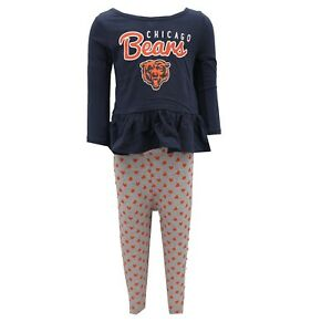 Chicago-Bears-NFL-Youth-Kids-Girls-Size-2-Piece-Shirt-amp-Pants-Combo-New-Tags