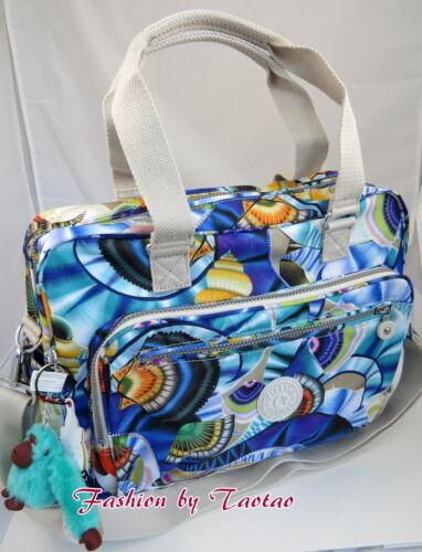 NWT Kipling Alanna Baby Diaper Handbag Oceanic Day Dream Print Monkey MEGUMI
