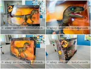 READY-TO-SHIP-JURASSIC-PARK-WORLD-VELOCIRAPTOR-AMBER-COLLECTION-BRAND-NEW-SEALED