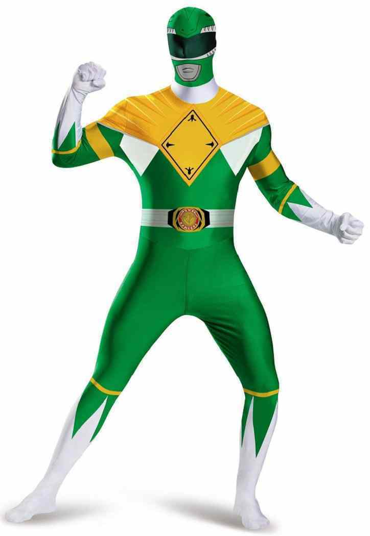Mighty Morphin Power Rangers Green Ranger Bodysuit Halloween Adult Costume