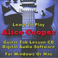ALICE COOPER Guitar Tab Lesson CD Software - 59 Songs