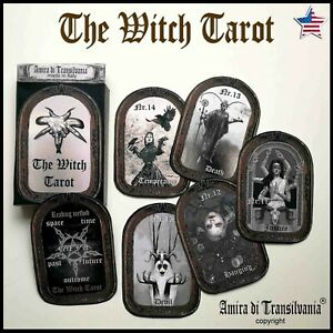 Witch-tarot-card-cards-deck-guide-book-major-arcana-wicca-oracle-rare-vintage