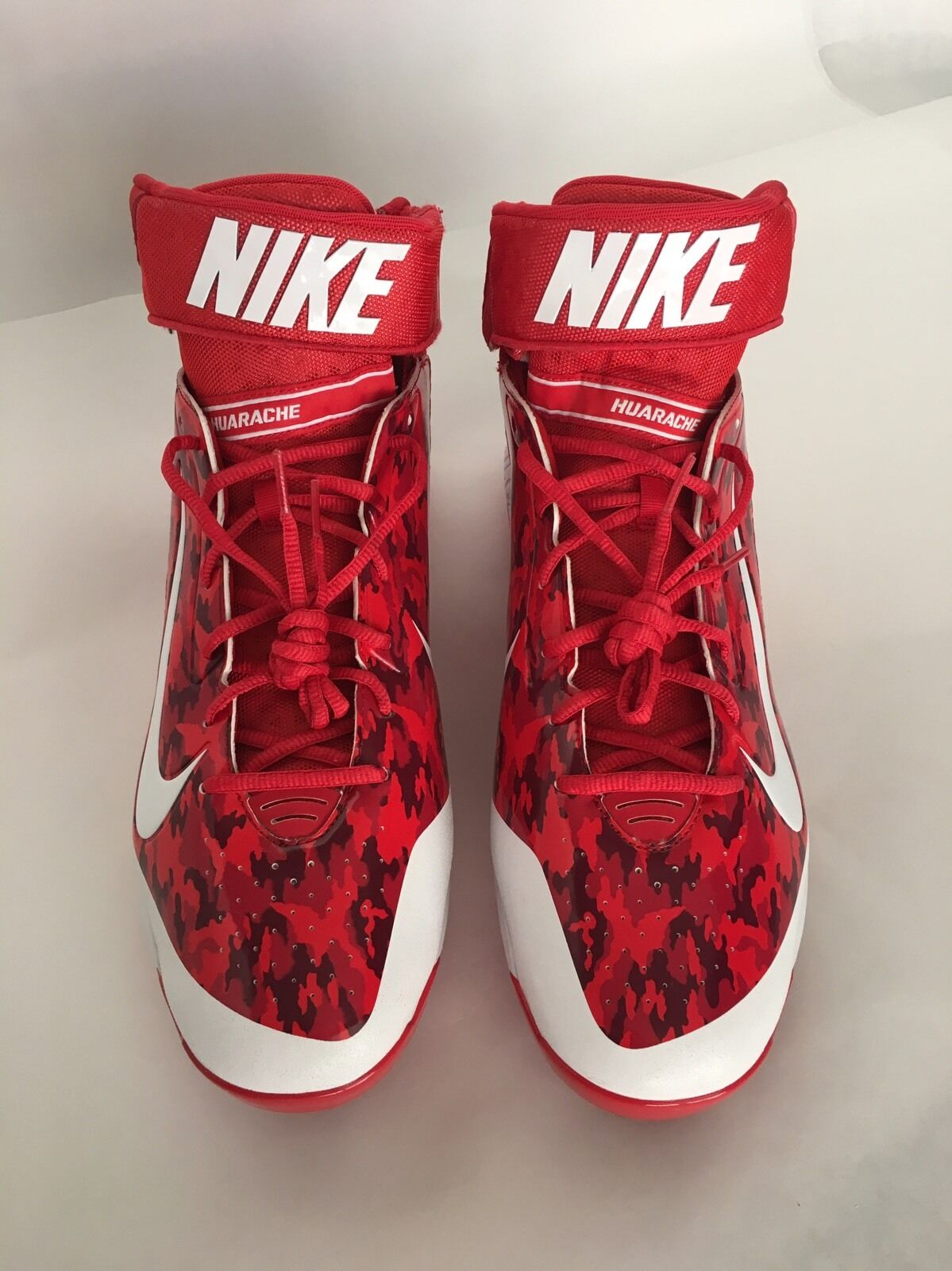 New Nike Air Huarache Pro Mid Metal Baseball Cleats Red Camo White Comfortable The most popular shoes for men and women
