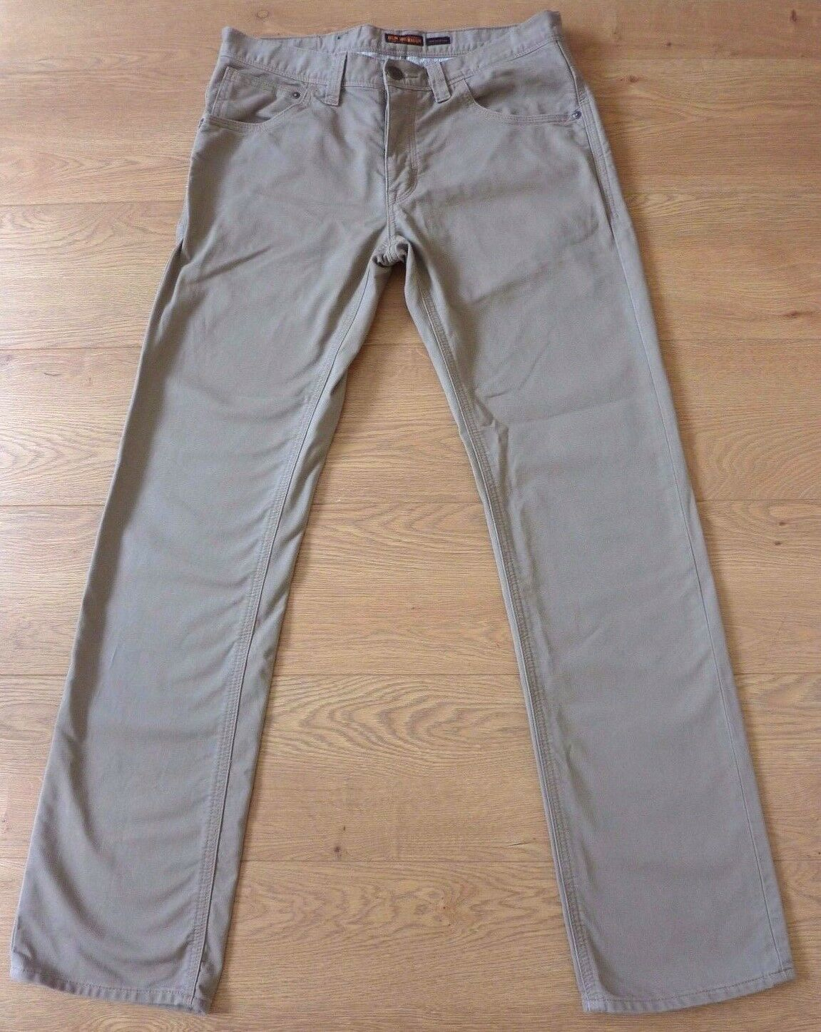Ben Sherman The Original Men's Straight Fit Beige Trouser Size W32 L34