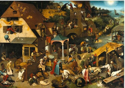 Dutch Proverbs by Pieter Bruegel 230gsm photo quality paper or laminated