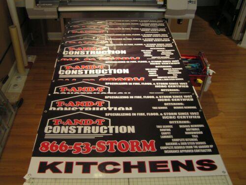 Same Day Shipping! 3/' x 4/' Full Color Custom Banner High Quality 13oz Vinyl