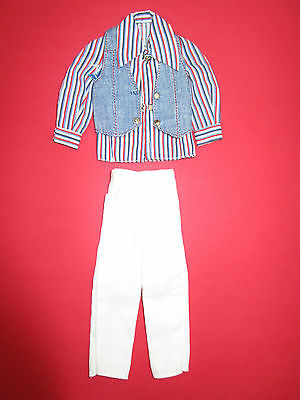 (33) Età Dura Vestito Vintage Per Barbie Ken + Fred Round Metallo Bottoni A Pressione-pfe It-it Mostra Il Titolo Originale