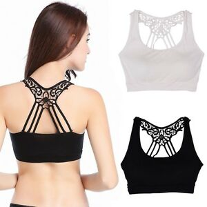 d91744cfd7 Image is loading Women-Ladies-Lace-Crochet-Butterfly-Back-Boob-Tube-