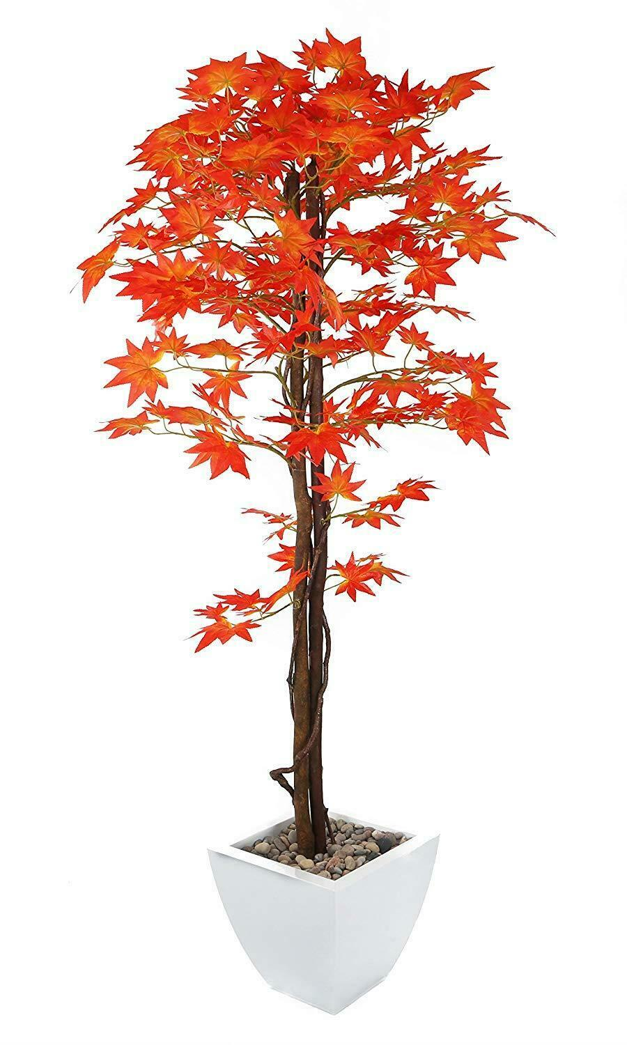 Closer2nature Artificial 5Ft rot Japanese Maple Tree - Portofino Planter Not