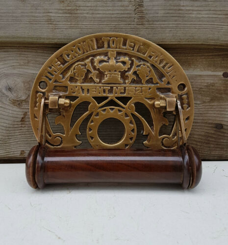 CROWN TOILET FIXTURE Embossed Victorian Style Made of Brass in Bronze Finish