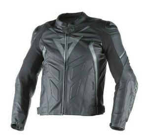 DAINESE-AVRO-D-1-LEATHER-JACKET-MOTORBIKE-MOTORCYCLE-BLACK