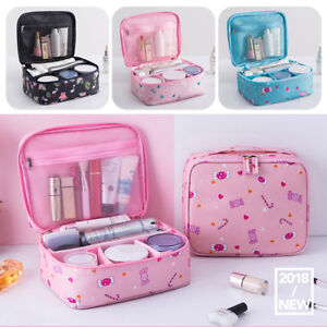 994906b6ff Image is loading Women-Waterproof-Makeup-Bag-Cosmetic-Bags-Travel-Toiletry-