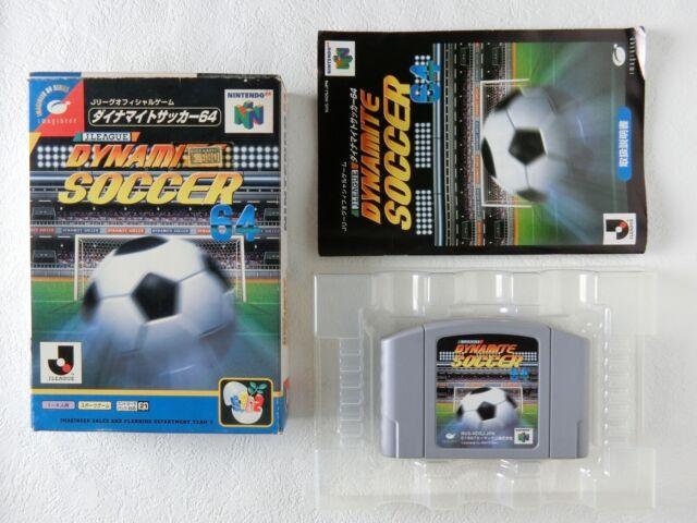J League Dynamite Soccer 64 N64 Imagineer Nintendo 64 BOX From Japan