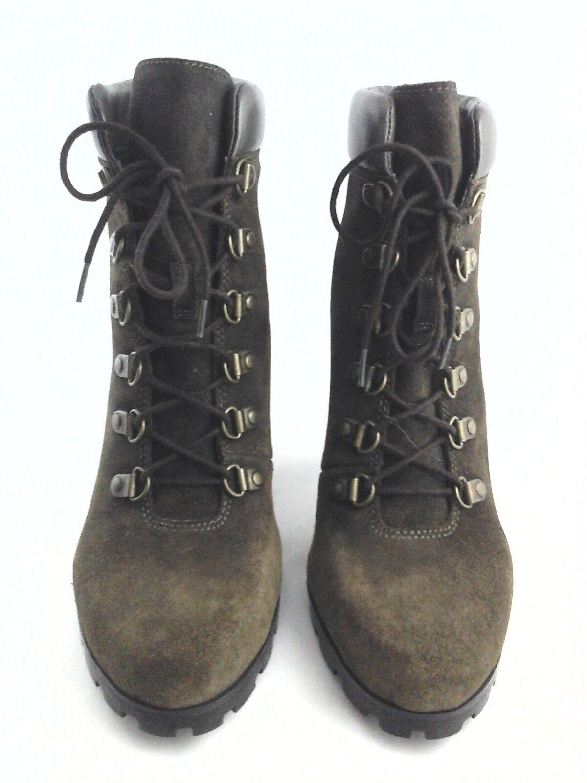 Ralph Lauren Lauren Ralph Senderismo botas Tacones Lauren Ralph Lauren Zapatos Con Cordones De Gamuza verde Musgo 9.5 40  165 11ad5d