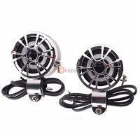 Waterproof Amplifier Motorcycle Handlebar Mount Speakers For Harley Cruisers Us