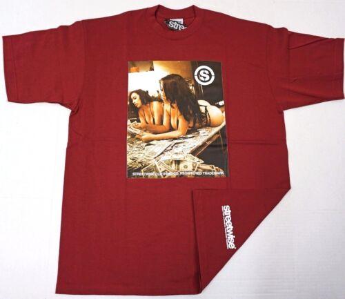 STREETWISE CASH OUT T-shirt Urban Streetwear Tee Men XL-4XL Burgundy NWT