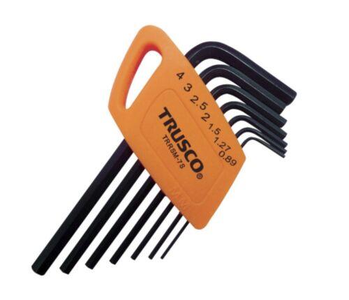 TRRSM-7S TRUSCO MINI HEX WRENCH SET 0.89,1.27,1.5,2.0,2.5,3.0,4.0mm