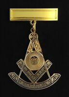 Masonic Past Master's Jewel With Engraving Bar (pm3-pb)