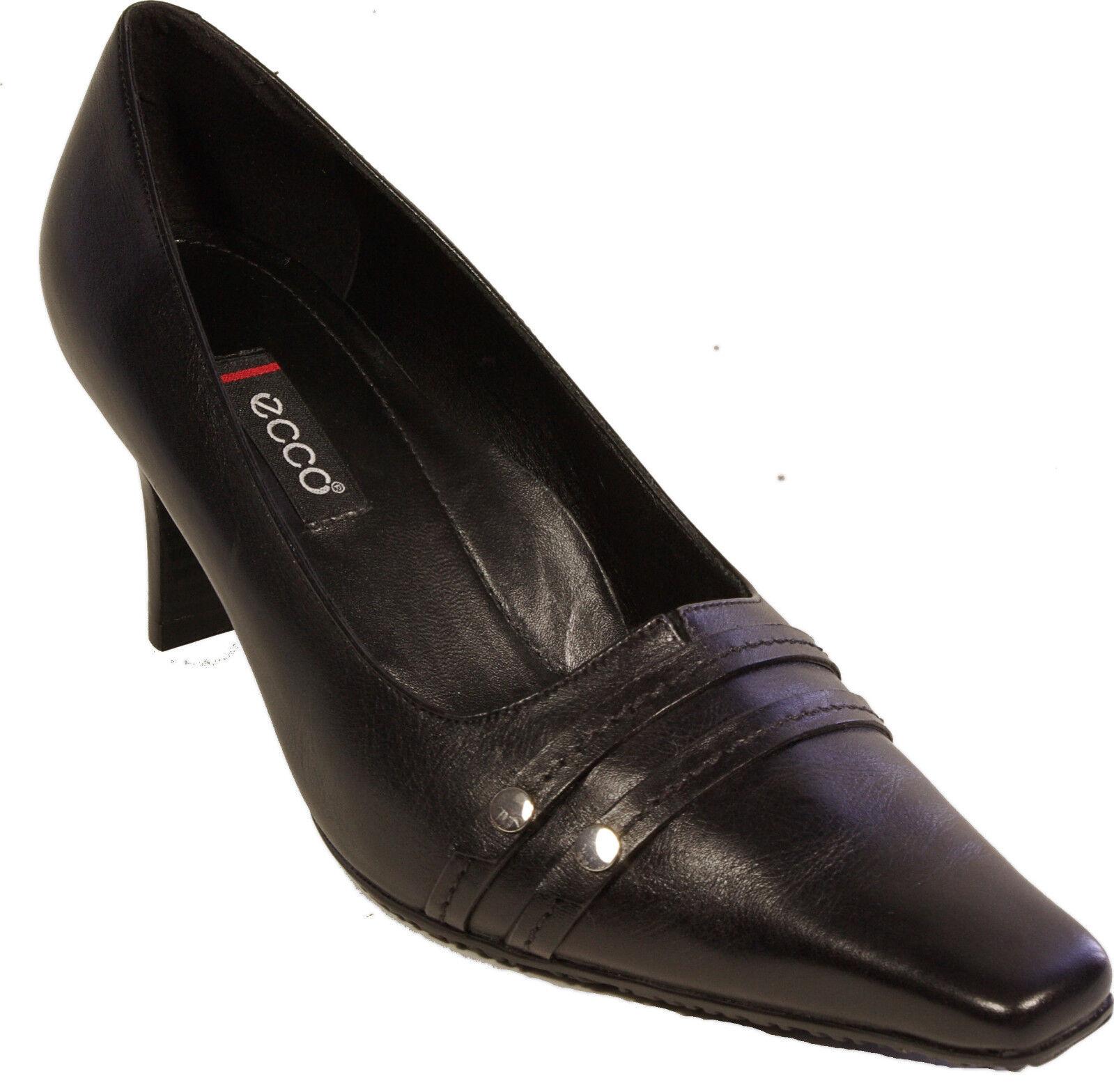 ECCO Schuhe Pumps Gr. 36 ( 3,5 ) schwarz echt Leder  Gummisohle NEU