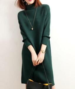 a maglione da lavorato maglia lana lunga oversize e Pullover donna in manica cashmere in 6qwYa5I