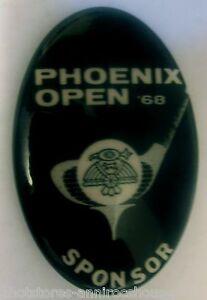 Golf-Open-Button-Phoenix-Arizona-1968-Sponsor-Promotional-Pin