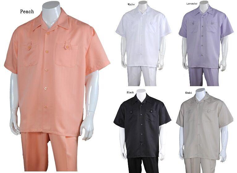 Men's 2-piece Spring Summer Casual Shirt Set  Walking Suit M2963