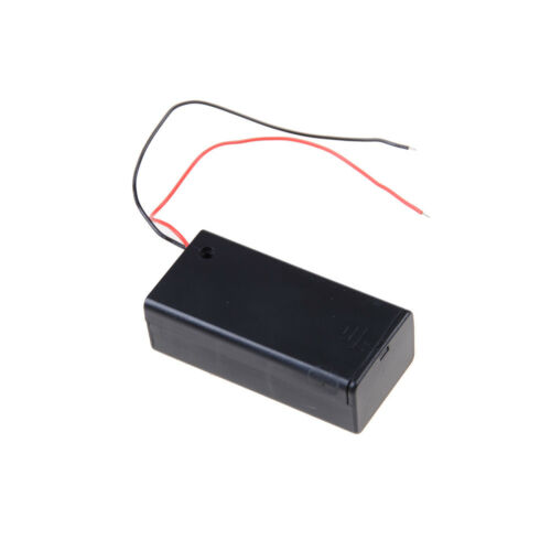 2Pcs New 9V Battery Holder with ON//OFF Switch 9 volt Box Pack Power Toggle ZT