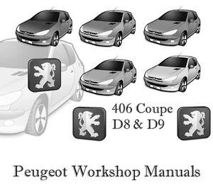 peugeot 406 coupe d8 d9 d 8 d 9 shop service manual workshop repair rh m ebay ie peugeot 406 coupe repair manual 406 Coupe Inside