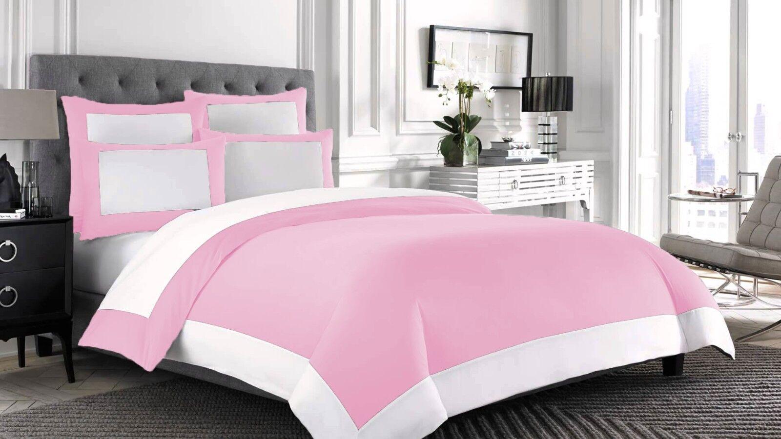 100% Egyptian Cotton 1000-TC 1 Piece Designer Reversible Duvet Cover, Size color