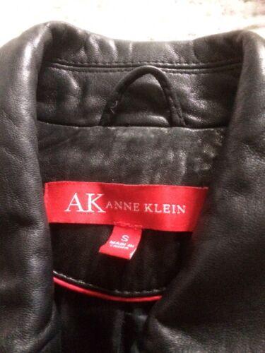 10 noire Anne Veste luxueuse peau S taille d'agneau Klein Vgc femme zRq1RwgBxP