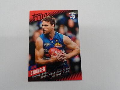 Australian Football Cards 2017 Afl Select Hilites Card Sh10 Jake Stringer Western Bulldogs 297/349