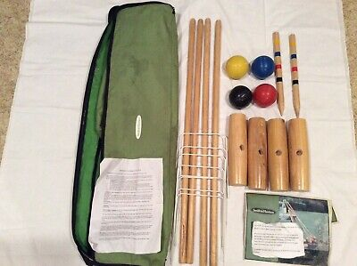 Smith Hawkins 4 Person Croquet Set With Carry Bag In Lightly