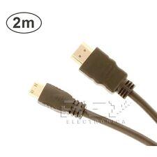 CABLE Mini HDMI a HDMI 1.4 Full HD 1080p 2m adaptador conversor 19 Pines v142
