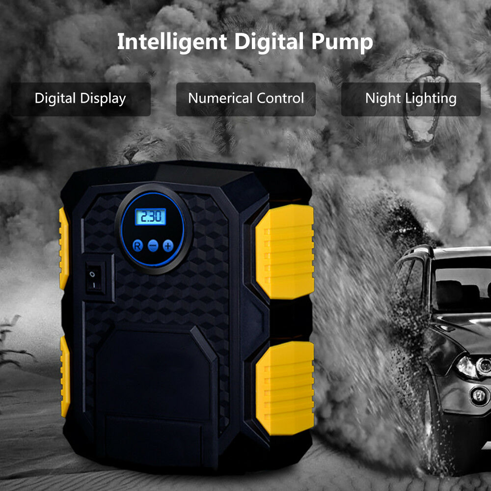 Electric Car Tyre Inflator Pump 12v Digital Portable Tyre Air Compressor Pump