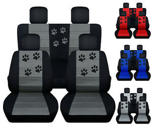 Jeep Renegade Seat Covers >> Details About Cc Front And Rear Car Seat Covers Paw Prints Fits 2015 2018 Jeep Renegade