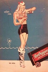 Dr Pepper Vintage Man Cave DECOR 4x6 Fridge Magnet BAR Shop Pinup SIGN TOOL BOX