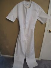 New Without Tag Deptcor Work Clothing Short Sleeve Coveralls White Medium