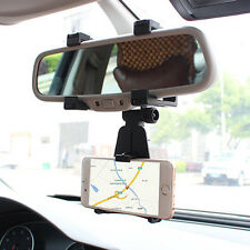 Car Mobile Phone Holder AUTO Rearview Mirror Mount Stand Cradle For MP4 GPS