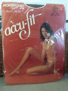 Vintage Accu-Fit nude Pantyhose size a suntan