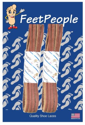 27-90 Inches 2 Pair Pack CHEROKEE FeetPeople Genuine Leather Shoe Laces