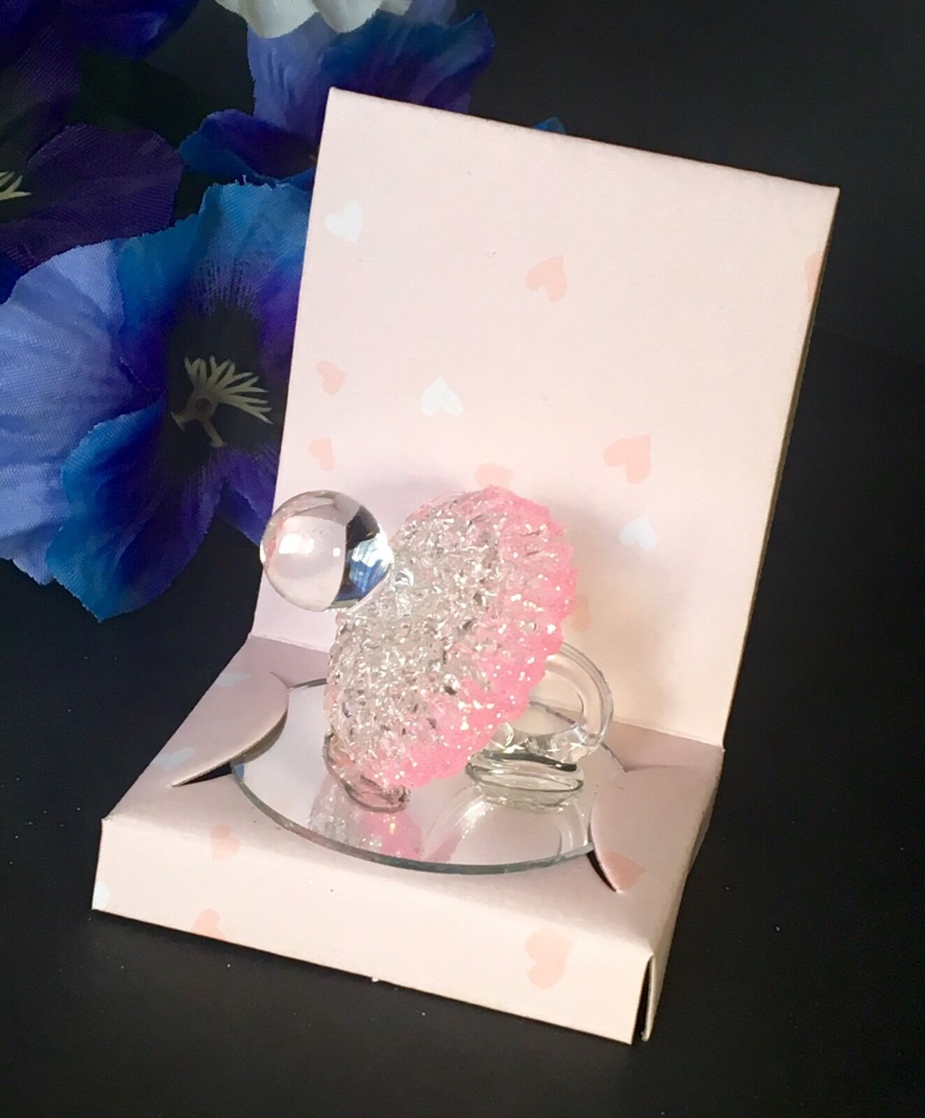 12-Baby Shower Party Favors Crystal Pacifier rose Recuerdos Chupon Decorations