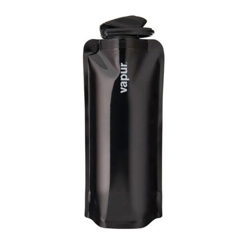 Vapur solide 0.7 litres noir large bouche Anti-Bouteille en Plastique Souple bouteille d/'eau