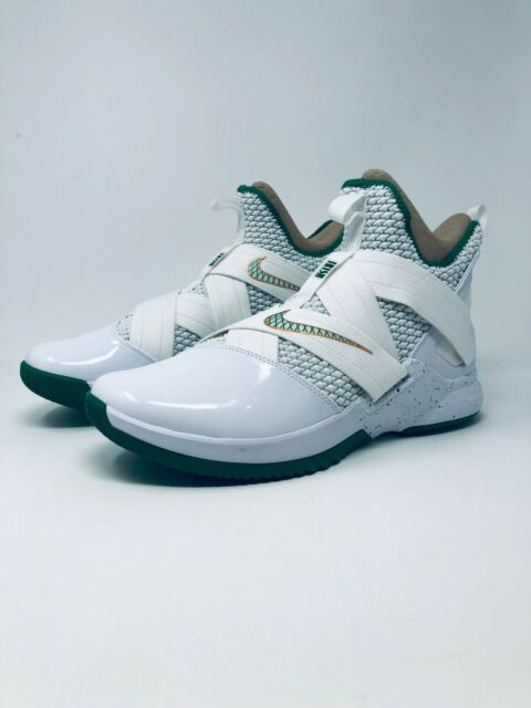 best website ae059 3db3f Nike Lebron Soldier 12 XII SVSM Home Mens Ao2609-100 White Green Shoes Size  9