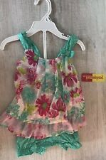 Jessica Simpson Baby Girls Tie Dye Dres Set Size 12 18 24 Months Peach Coral