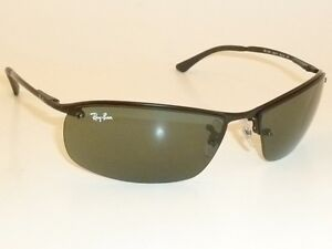 6a9a91d5774bfa Details about New RAY BAN Sunglasses TOP BAR Black Frame RB 3183 006 71  Green Lenses