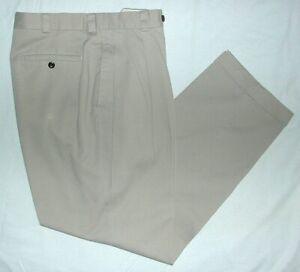 Para Hombres Pantalones De Sarga Nautica Tan Frente Plisado Manguito Inferior Tamano 33 X 32 Usado En Excelente Condicion Ebay