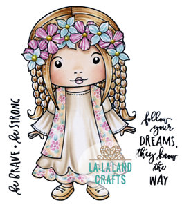 New La La Land Crafts SHOPPING MARCI Cling Rubber Stamp Girl Package