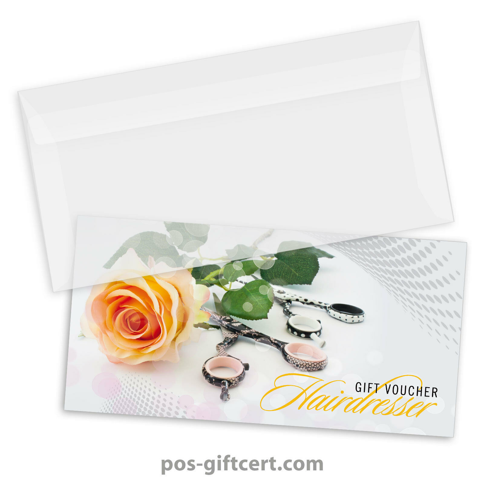 Gift vouchers + envelopes for hair salons, hairdressers, hairstylists K9278GB